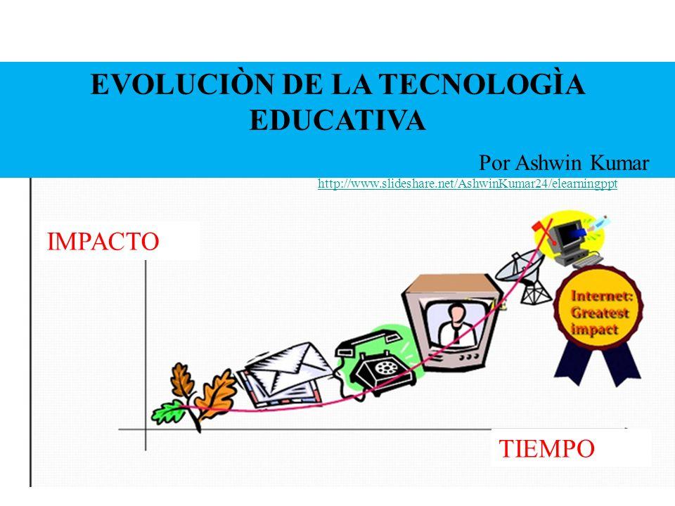 2 EVOLUCIÒN DE LA TECNOLOGÌA EDUCATIVA IMPACTO TIEMPO Por Ashwin Kumar http://www.slideshare.net/AshwinKumar24/elearningppt