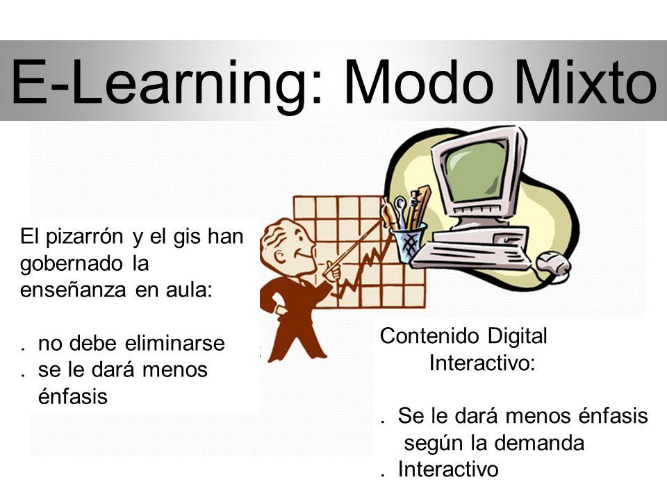 e-Learning El trabajo de clase se puede programar en torno al trabajo personal y profesional. Reduce los costos de traslados y de tiempo a la escuela