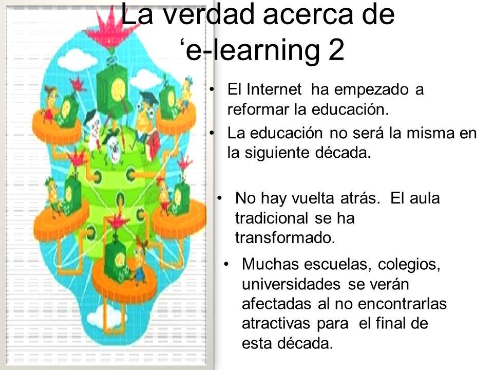E-Learning No es una taza de páginas web! Es un medio de aprendizaje complejo! Necesitamos capacidad profesional para crear nuestros materiales de apr