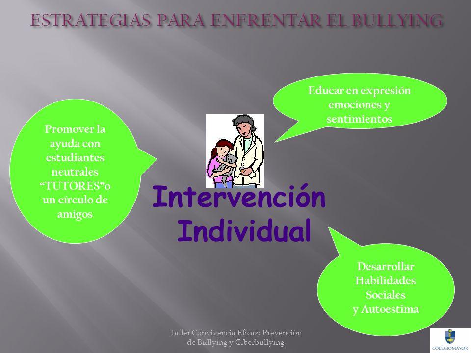 Intervención en la sala Educar en valores: SOLIDARIDAD, RESPETO Promover cultura del BUEN TRATO y RESOLUCIÓN DE CONFLICTOS Aprender a ESCUCHAR y respe