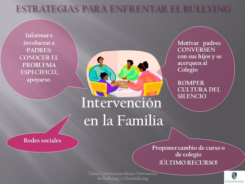 Desarrollar Habilidades Sociales y Autoestima Intervención Individual Promover la ayuda con estudiantes neutrales TUTORESo un círculo de amigos Educar