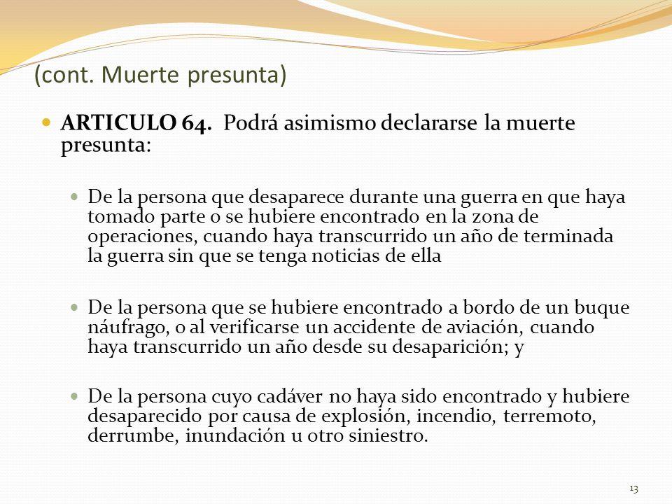 ARTICULO 64.