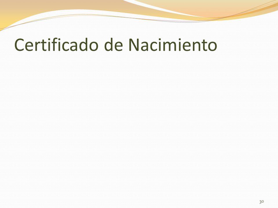 Certificado de Nacimiento 30