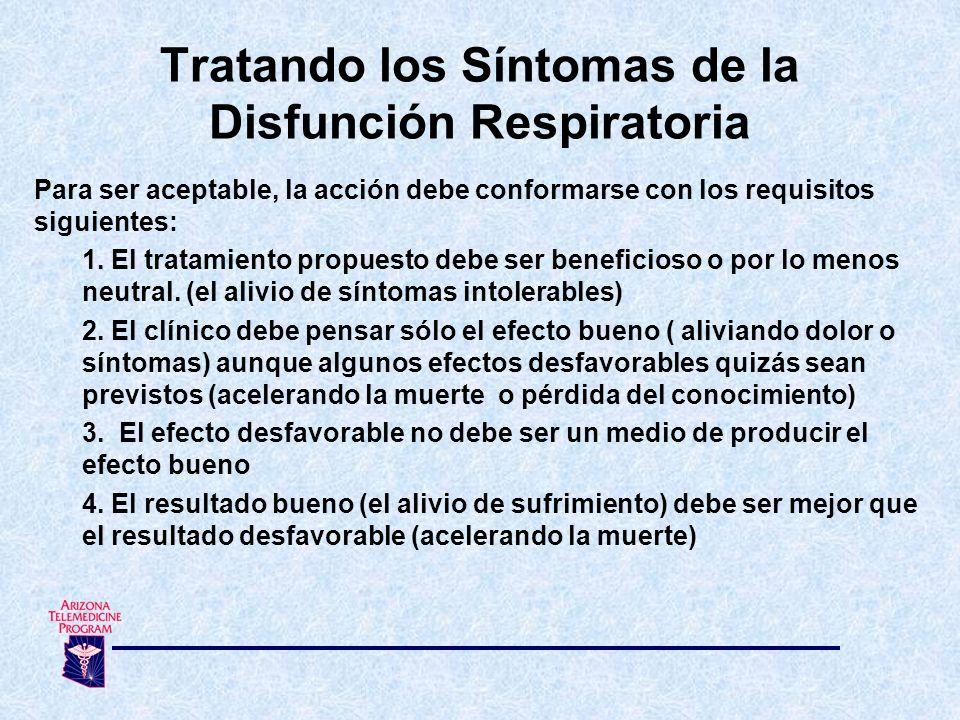 Para ser aceptable, la acción debe conformarse con los requisitos siguientes: 1. El tratamiento propuesto debe ser beneficioso o por lo menos neutral.