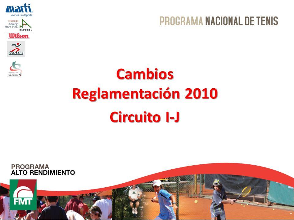Cambios Reglamentación 2010 Circuito I-J
