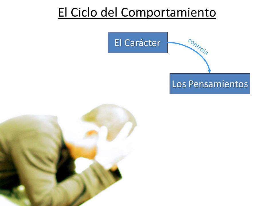 El Ciclo del Comportamiento El Carácter Los Pensamientos controla
