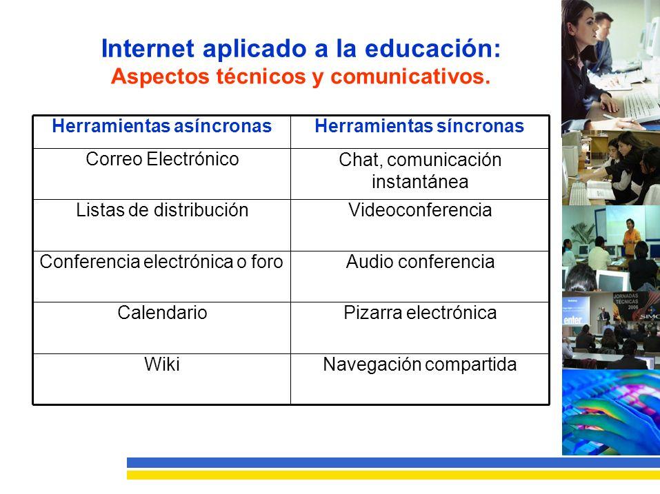 Internet aplicadoa la educación: Aspectostécnicosycomunicativos.
