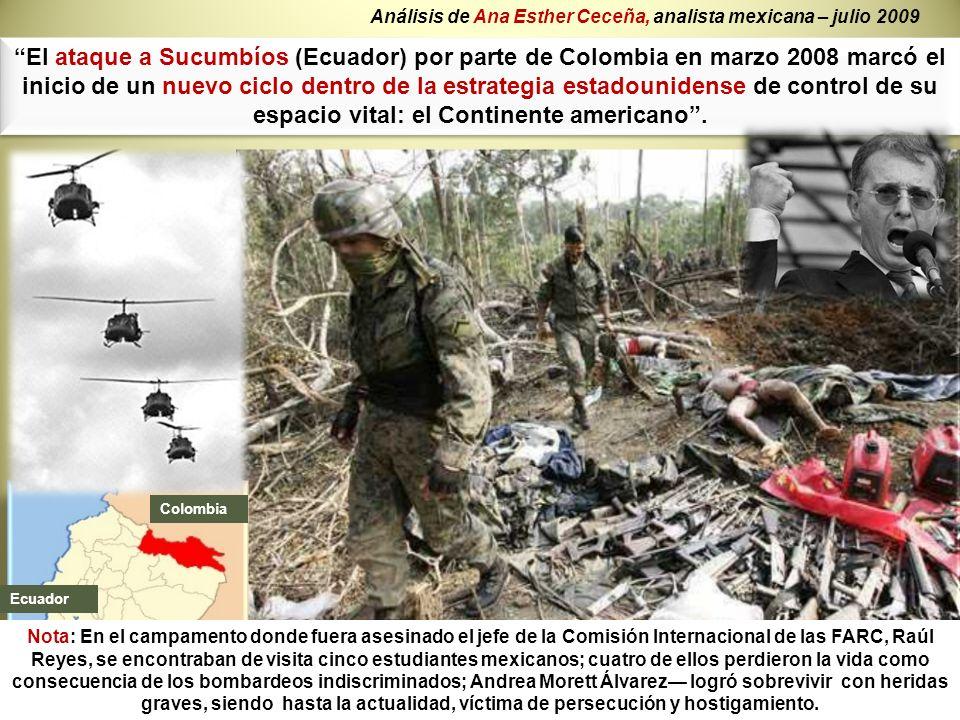 El ataque a Sucumbíos (Ecuador) por parte de Colombia en marzo 2008 marcó el inicio de un nuevo ciclo dentro de la estrategia estadounidense de contro