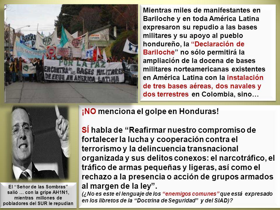 ¡NO menciona el golpe en Honduras! SÍ habla de Reafirmar nuestro compromiso de fortalecer la lucha y cooperación contra el terrorismo y la delincuenci