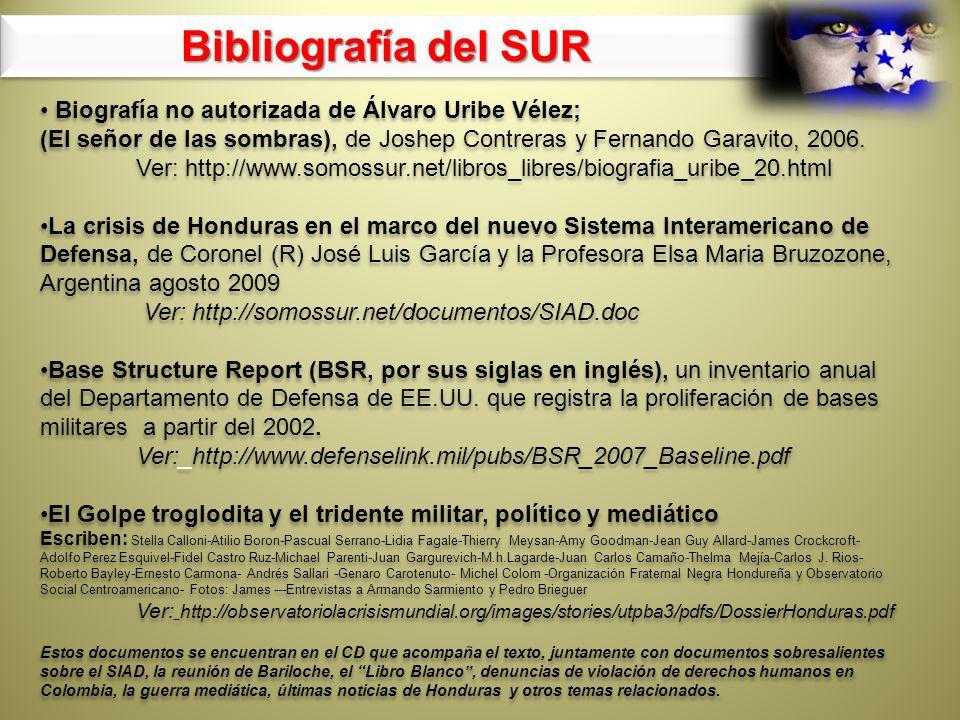 Biografía no autorizada de Álvaro Uribe Vélez; (El señor de las sombras), de Joshep Contreras y Fernando Garavito, 2006. Ver: http://www.somossur.net/
