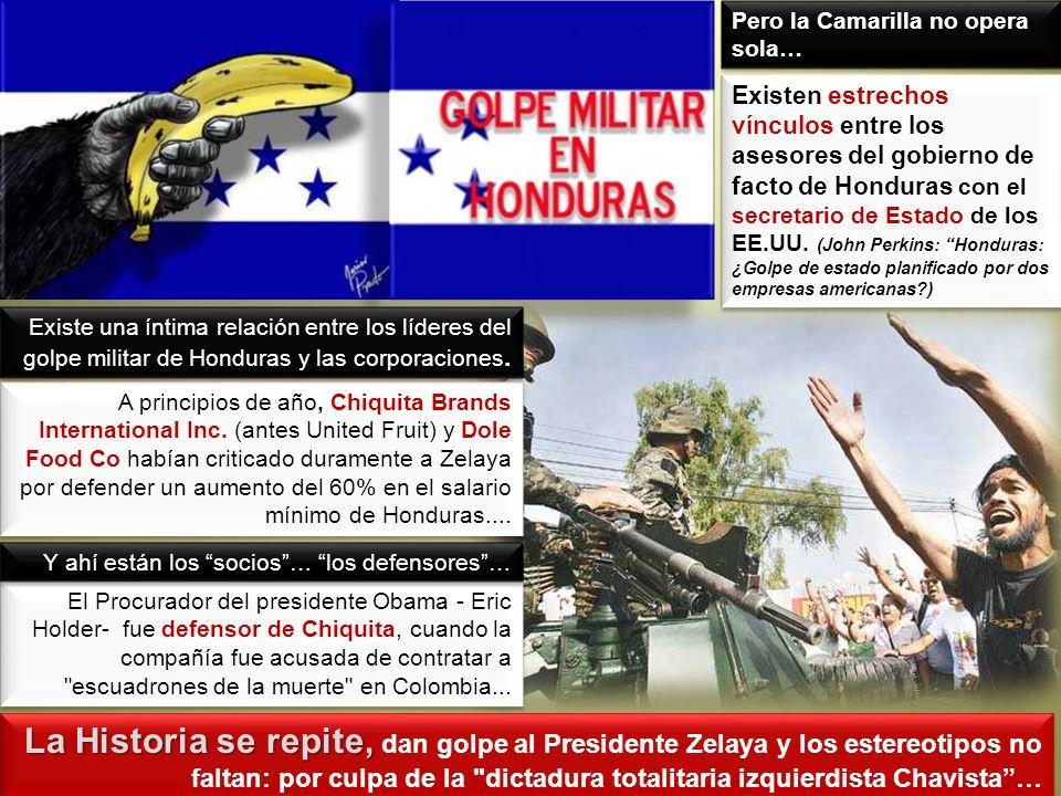 La Historia se repite, La Historia se repite, dan golpe al Presidente Zelaya y los estereotipos no faltan: por culpa de la