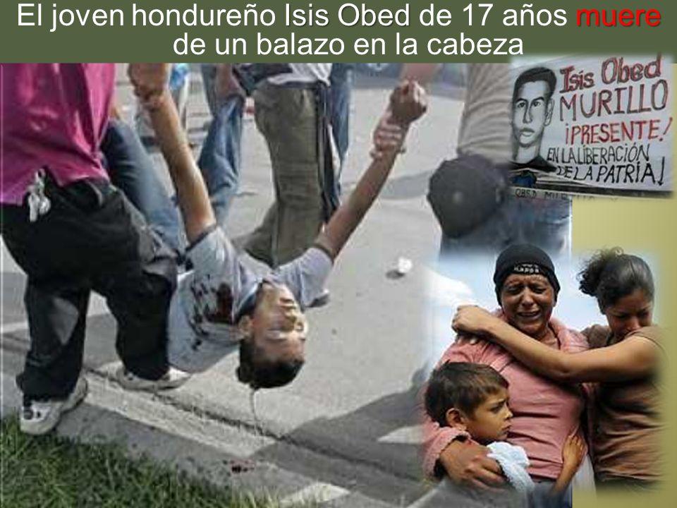 Isis Obed muere El joven hondureño Isis Obed de 17 años muere de un balazo en la cabeza