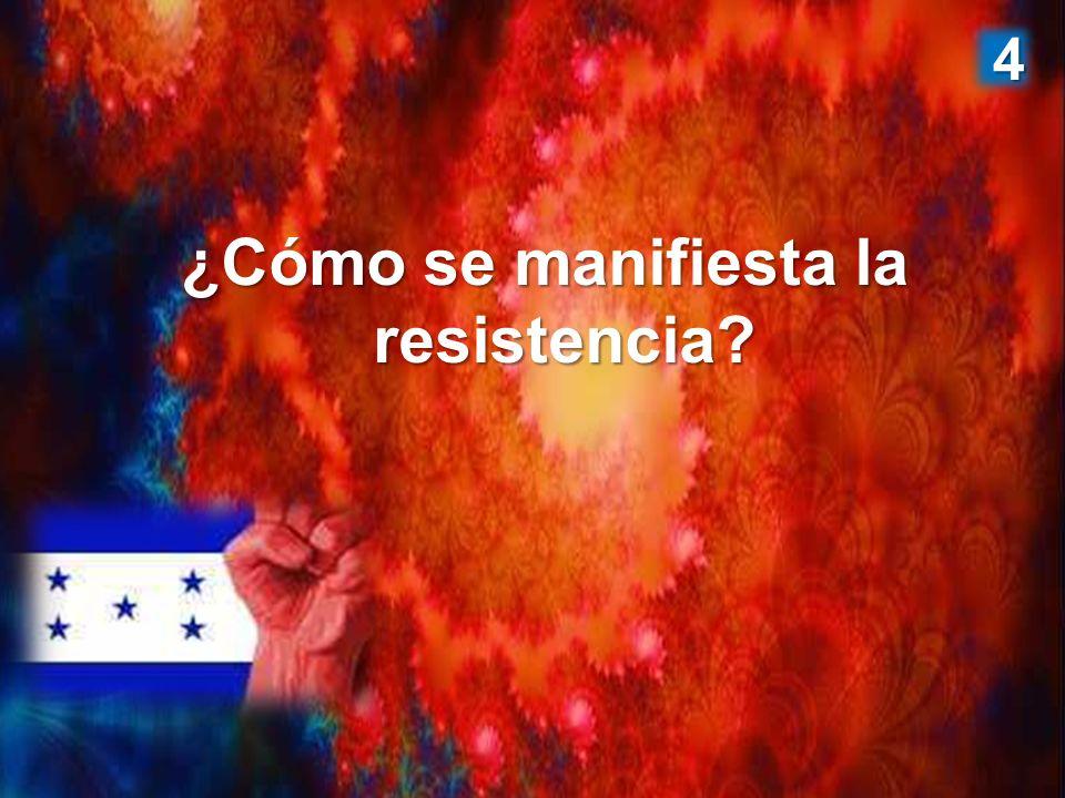 ¿Cómo se manifiesta la resistencia? 4