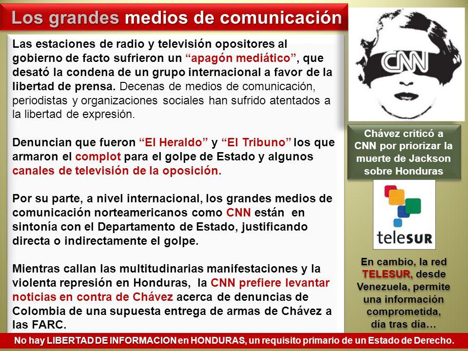 Las estaciones de radio y televisión opositores al gobierno de facto sufrieron un apagón mediático, que desató la condena de un grupo internacional a