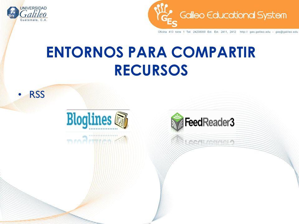 ENTORNOS PARA COMPARTIR RECURSOS RSS