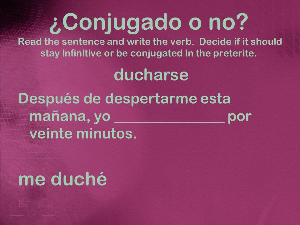 Los reflexivos en el pretérito Write the correct verb in the preterite based on the picture.