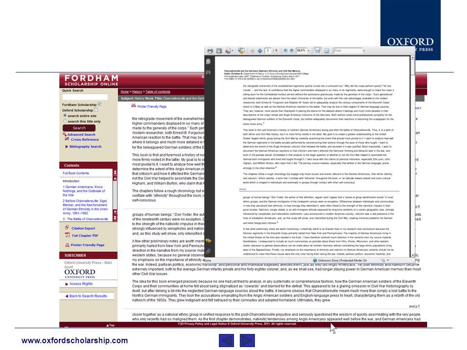 www.oxfordscholarship.com …y convertir capítulos a pdf.