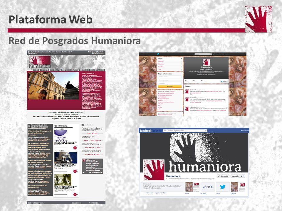Plataforma Web Red de Posgrados Humaniora