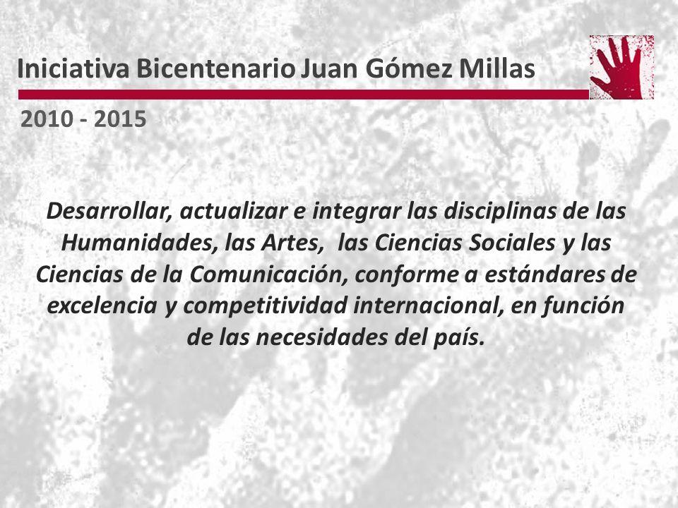 Desarrollar, actualizar e integrar las disciplinas de las Humanidades, las Artes, las Ciencias Sociales y las Ciencias de la Comunicación, conforme a estándares de excelencia y competitividad internacional, en función de las necesidades del país.