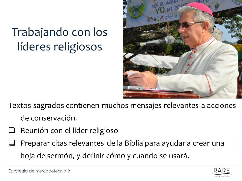 Estrategia de mercadotecnia 3 Textos sagrados contienen muchos mensajes relevantes a acciones de conservación. Reunión con el líder religioso Preparar