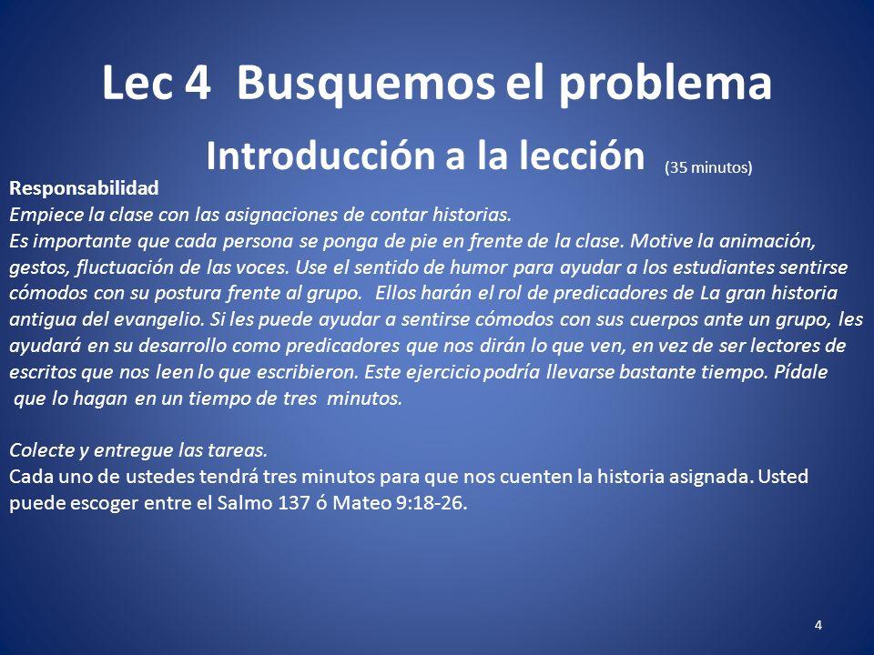 Lec 4 Busquemos el problema Predicacióninductiva 24 Referir al estudiante Recurso 4-4.