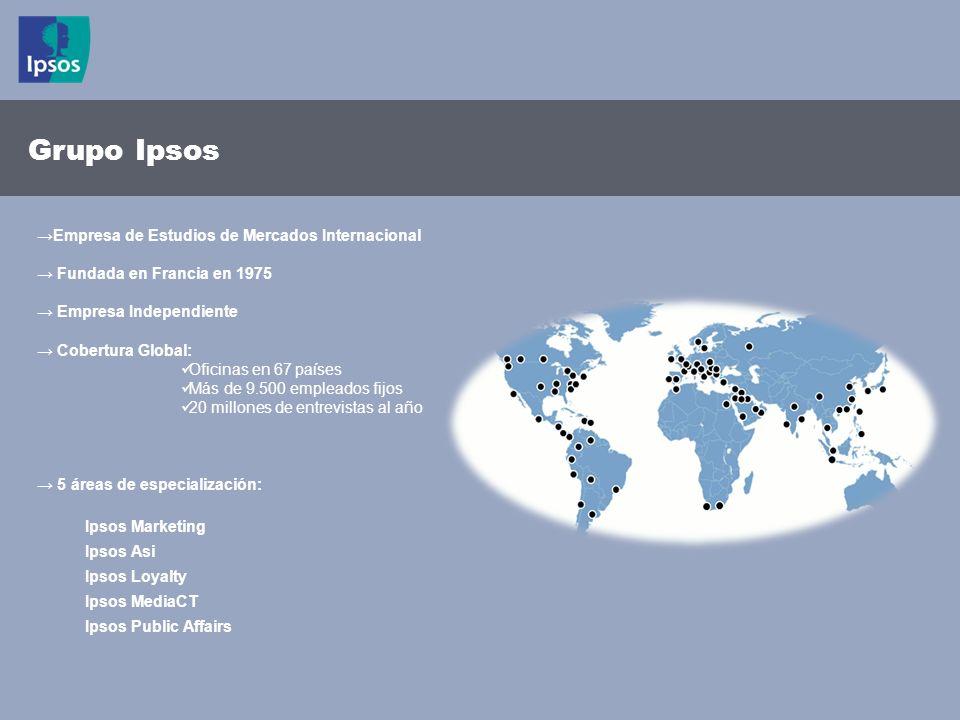 2 © 2011 Ipsos Empresa de Estudios de Mercados Internacional Fundada en Francia en 1975 Empresa Independiente Cobertura Global: Oficinas en 67 países