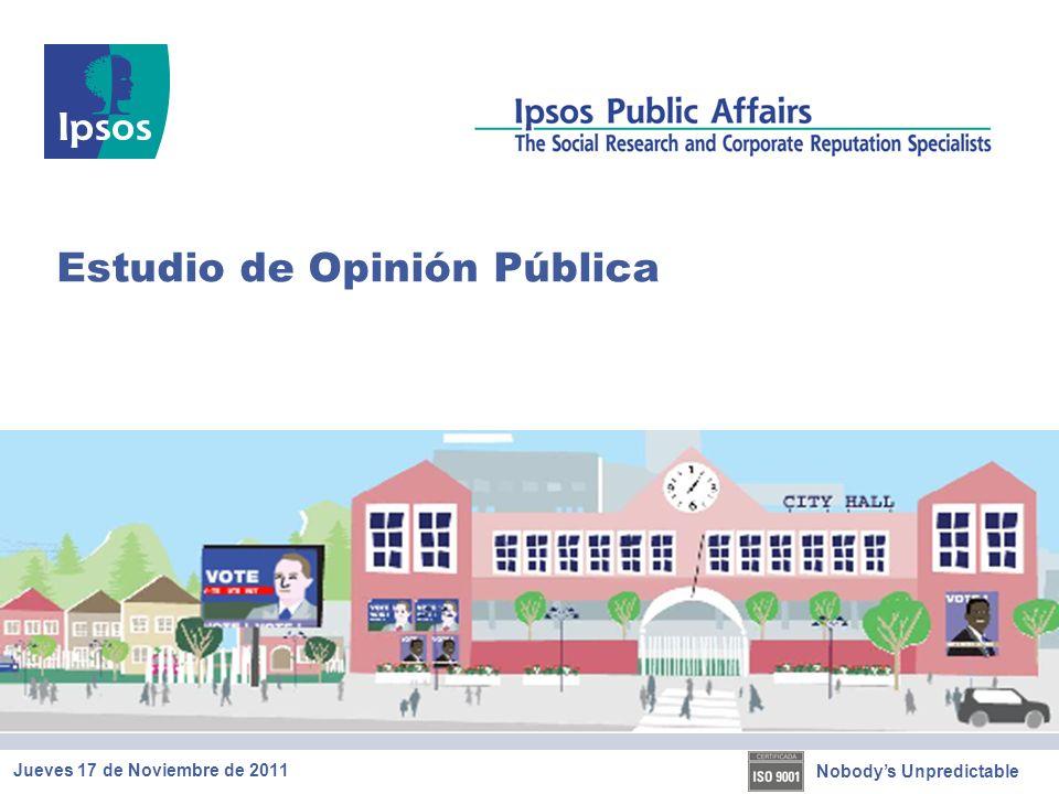 Nobodys Unpredictable Estudio de Opinión Pública Jueves 17 de Noviembre de 2011