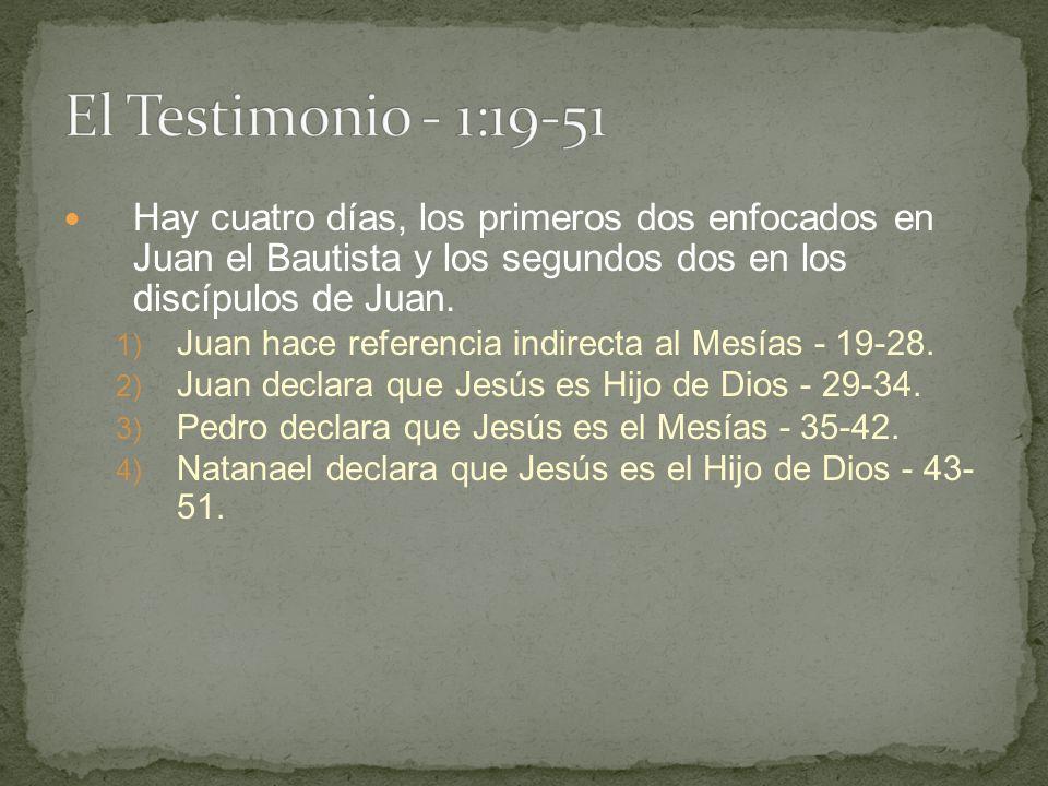 Hay cuatro días, los primeros dos enfocados en Juan el Bautista y los segundos dos en los discípulos de Juan.