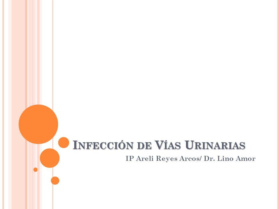 I NFECCIÓN DE V ÍAS U RINARIAS IP Areli Reyes Arcos/ Dr. Lino Amor