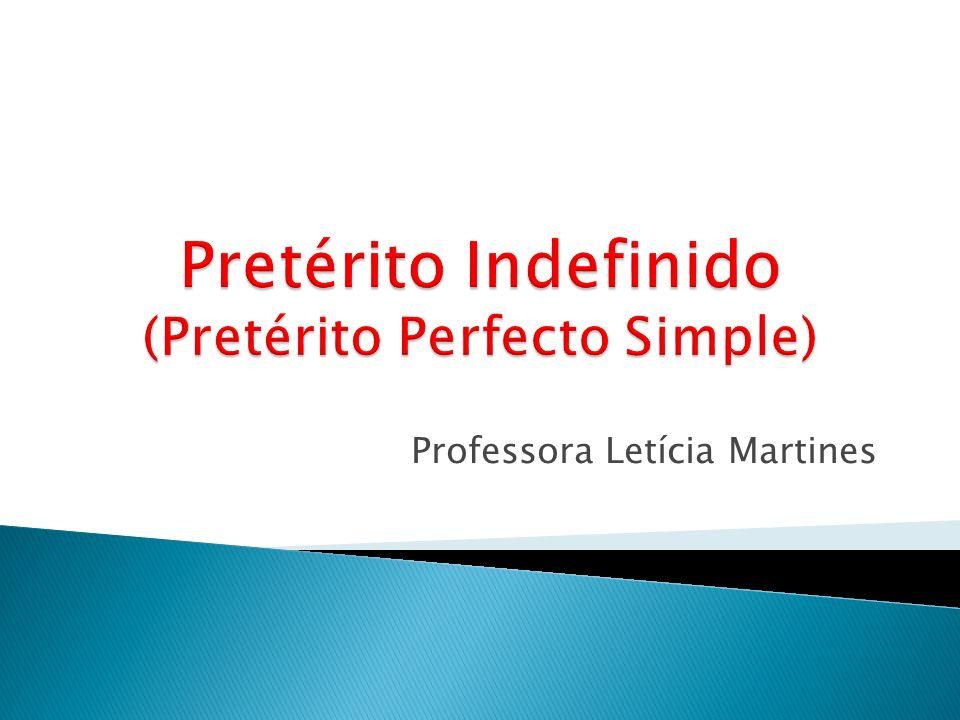 Usos del pretérito indefinido Cuando expresamos acciónes puntuales y concluidas en el pasado.