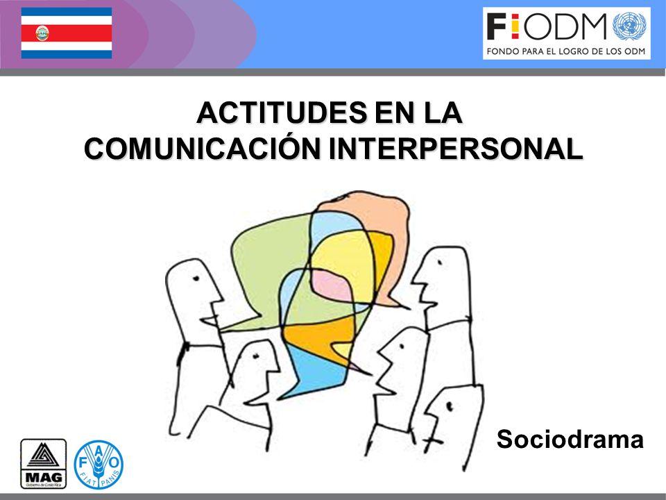 ACTITUDES EN LA COMUNICACIÓN INTERPERSONAL Sociodrama
