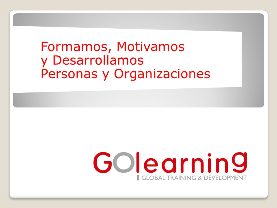 GOlearning > Developing People & Organizations2 1.