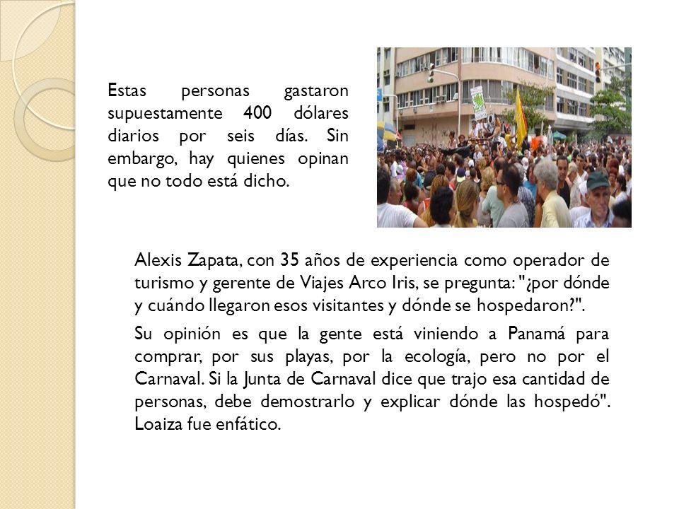 Alexis Zapata, con 35 años de experiencia como operador de turismo y gerente de Viajes Arco Iris, se pregunta: