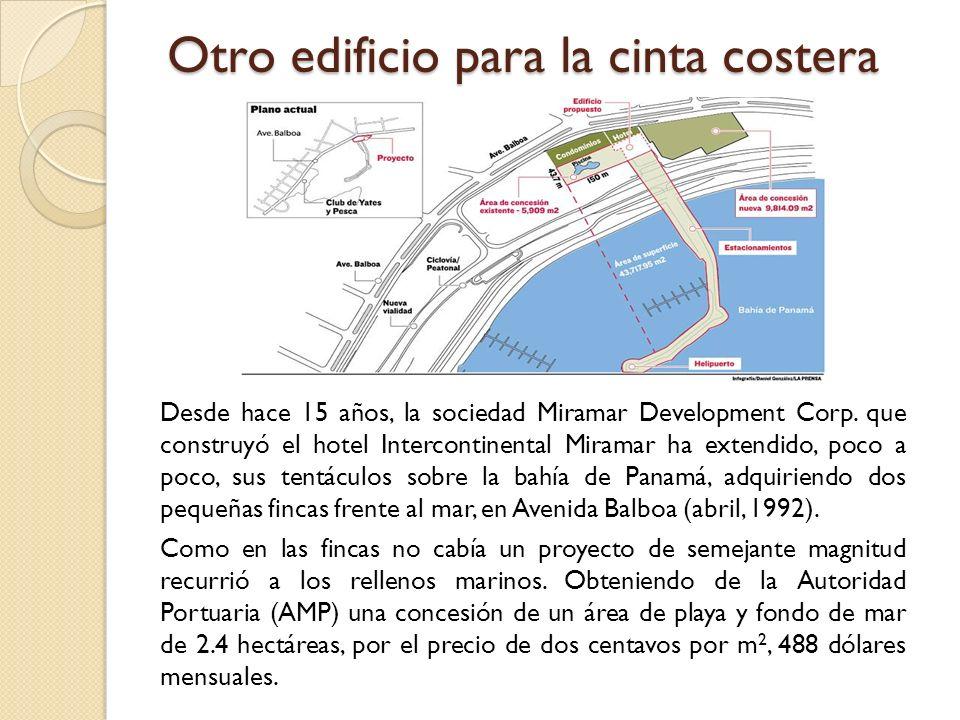 Otro edificio para la cinta costera Desde hace 15 años, la sociedad Miramar Development Corp. que construyó el hotel Intercontinental Miramar ha exten
