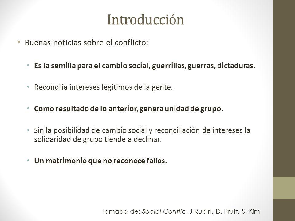Introducción Malas noticias sobre el conflicto: Dolor y rencor, después.