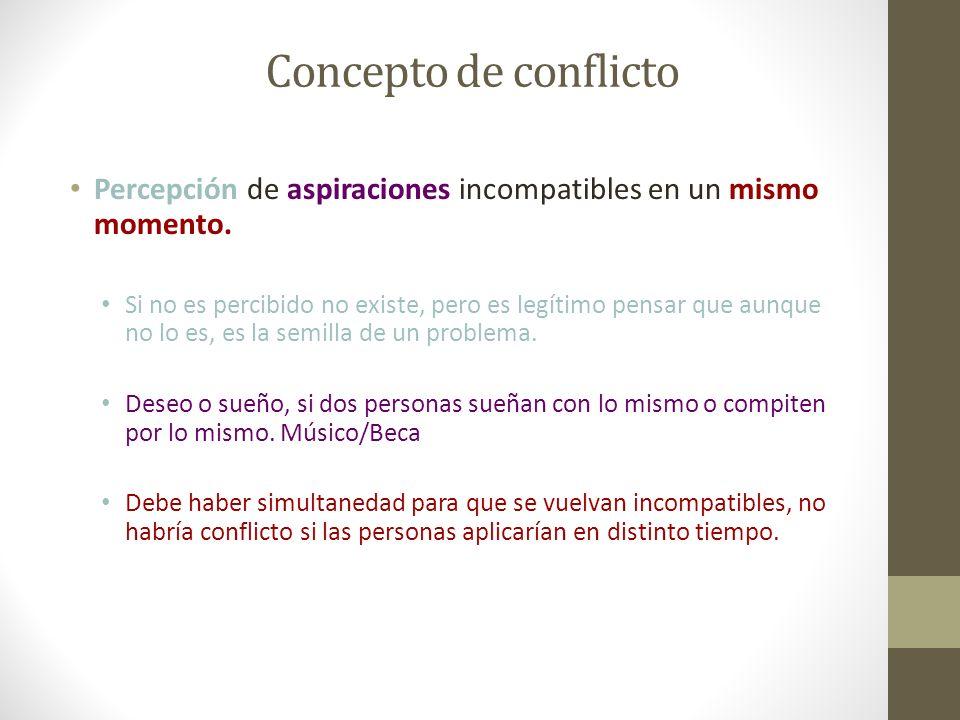 Conflicto Qué tiende a influir en que un conflicto, escale, se mantenga o disminuya.