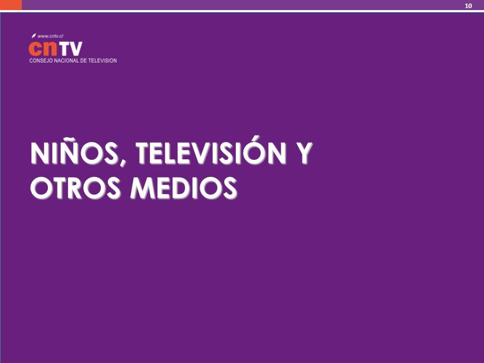 NIÑOS, TELEVISIÓN Y OTROS MEDIOS 10