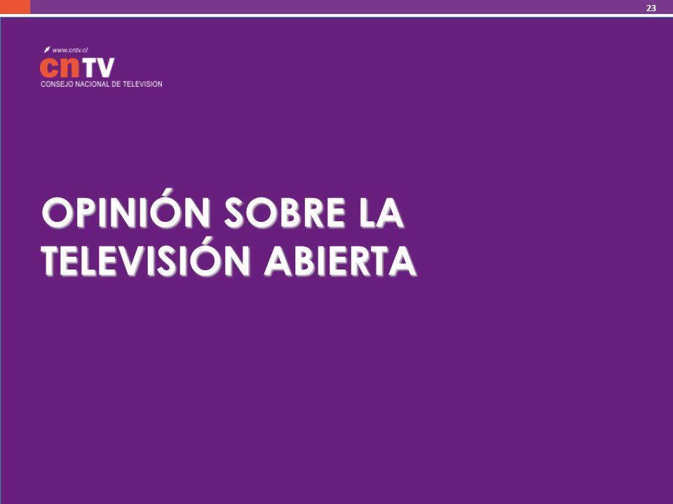 OPINIÓN SOBRE LA TELEVISIÓN ABIERTA 23