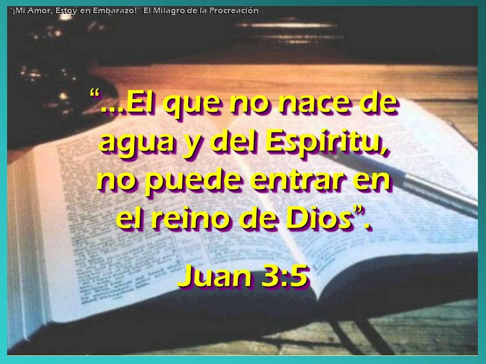 …El que no nace de agua y del Espíritu, no puede entrar en el reino de Dios. …El que no nace de agua y del Espíritu, no puede entrar en el reino de Di