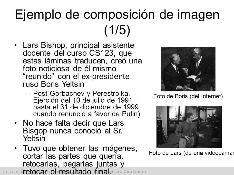Universidad Católica Andrés Bello » Computación Gráfica » Ciro Durán Ejemplo de composición de imagen (1/5) Lars Bishop, principal asistente docente d