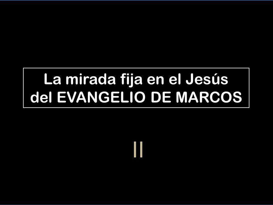 La mirada fija en el Jesús del EVANGELIO DE MARCOS II