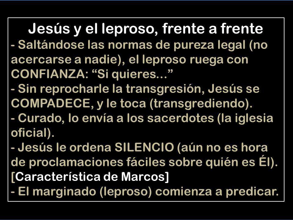 Mc 1,40-45 CURACIÓN DE UN LEPROSO 40 Un hombre enfermo de lepra se acercó a Jesús, y poniéndose de rodillas le dijo: –Si quieres, puedes limpiarme de mi enfermedad.