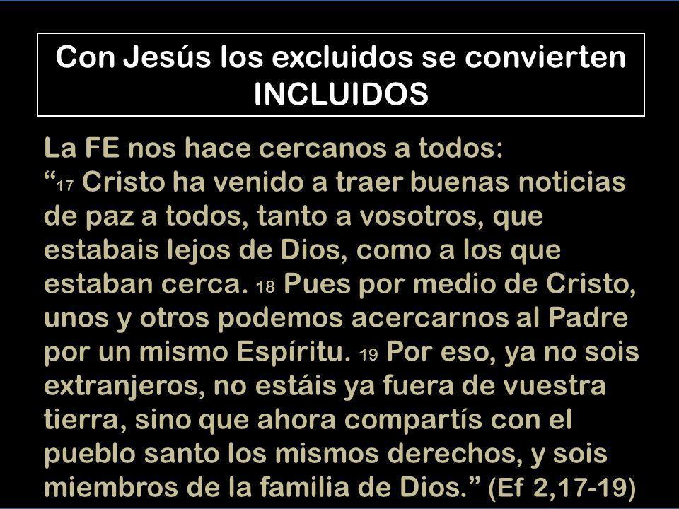 Jesús y el leproso El marginado (leproso) se convierte en cercano, el cercano (Jesús) se aleja hacia lugares despoblados El contacto con Jesús, le ha hecho relacionarse con TODO EL MUNDO