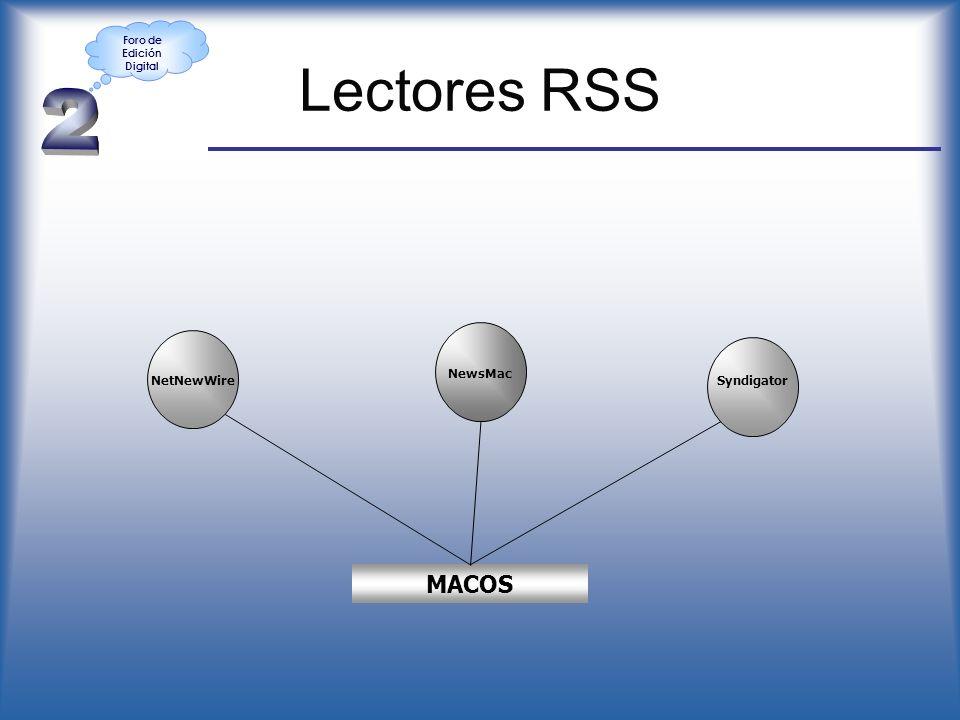 Lectores RSS NetNewWire MACOS NewsMac Syndigator Foro de Edición Digital