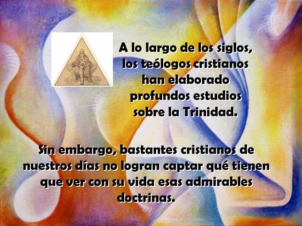 Este misterio de Dios no es algo lejano.Está presente en el fondo de cada uno de nosotros...
