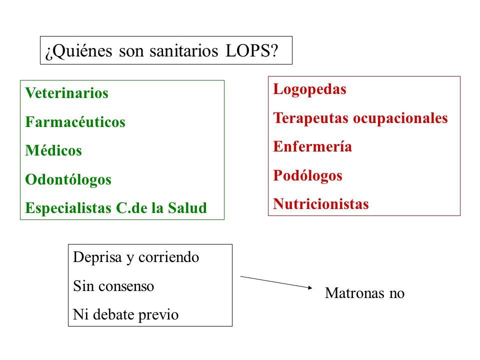 ¿Quiénes son sanitarios LOPS.