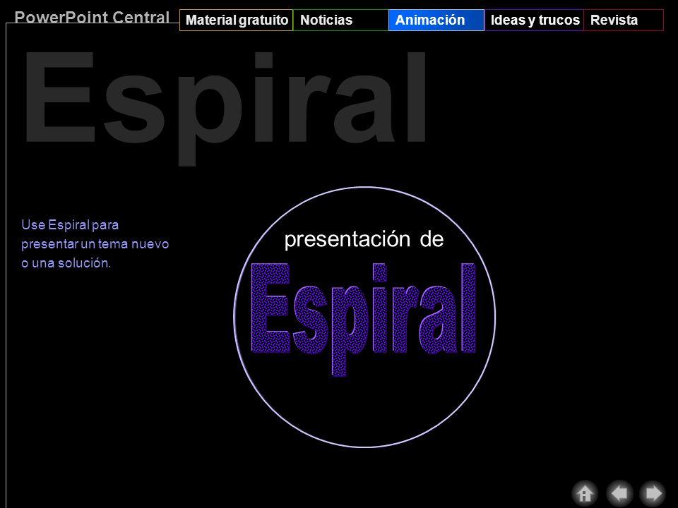 PowerPoint Central Material gratuitoNoticiasAnimaciónIdeas y trucosRevista Efectos de animación nuevos Aquí tiene lo que deseaba: los nuevos efectos d