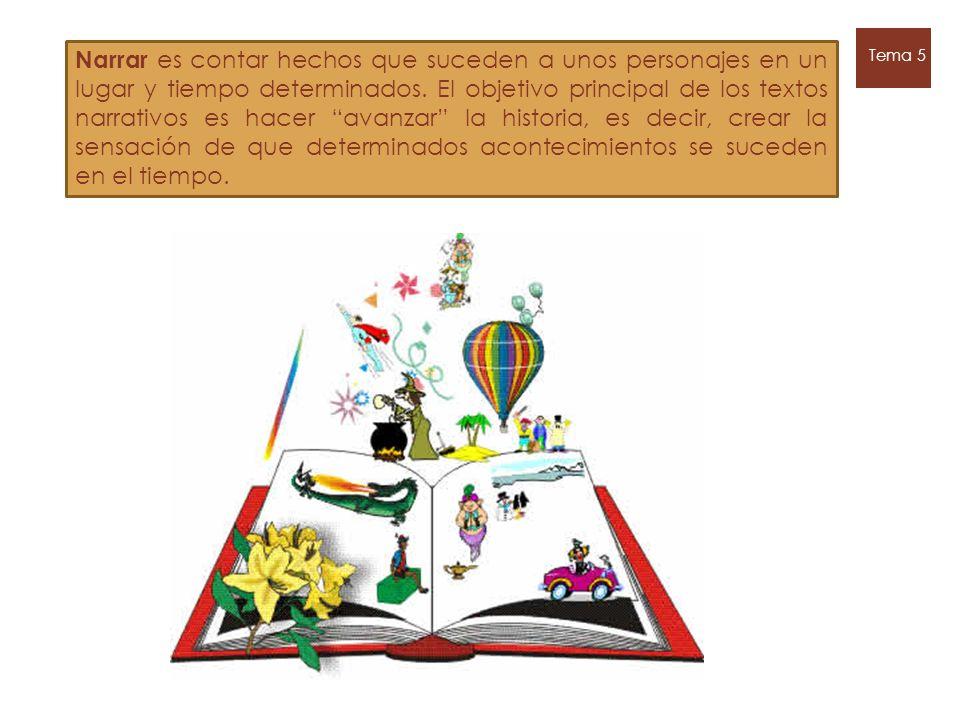 Tipos de textos narrativos Literarios : cuentan hechos imaginarios y tienen una finalidad artística.