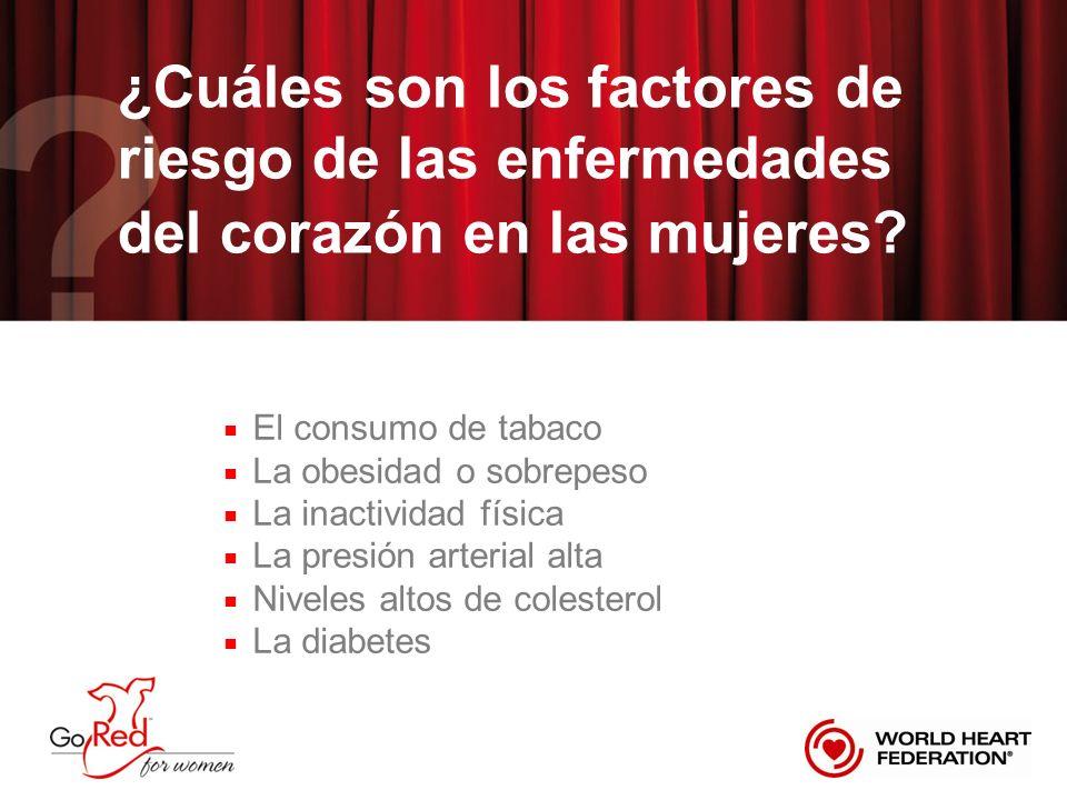 ¿Cuáles son los factores de riesgo de las enfermedades del corazón en las mujeres.