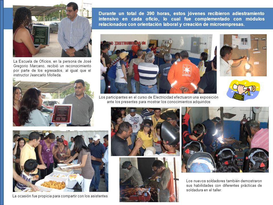 Ocho participantes del curso de Herrería recibieron el certificado respectivo en un emotivo acto efectuado el pasado mes de febrero de 2009.